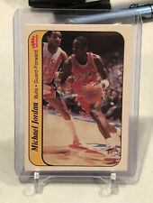 Michael Jordan 1986 Fleer Sticker #8 RC Chicago Bulls Rookie RARE Look 👀 HOT🔥