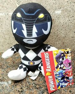 NEW Black Power Rangers Plush Toy Factory Doll Figure Saban's Hasbro Mastodon