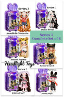 Complete Set of 6 Series 3 Na Na Na Surprise 2 IN 1 Fashion Dolls & Plush Purses