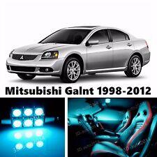 10pcs LED ICE Blue Light Interior Package Kit for Mitsubishi Galant 1998-2012