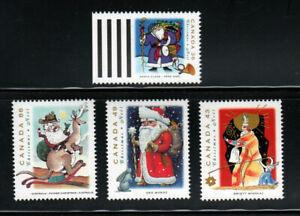 Christmas Swiety Mikolaj Poland Ded Moroz Santa Claus Canada 1993 #1499-1502 MNH