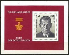 Germany (East) DDR GDR 1976 MNH Dr Richard Sorge Soviet Agent Commemoration  M/S