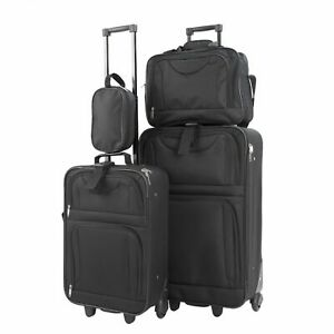 FAULTY Suitcase Luggage Soft Shell Trolley Wheel Set of 4 Lightweight Travel Cas