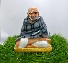 Neem Karoli Baba Maharaj Ji 9.5 x 8 Cm Polyresin Statue/ Figurine For Blessing~