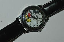 Vintage Accutime MK1089 Mickey Mouse Quartz Watch 35mm Japan Mvn't Works Fine