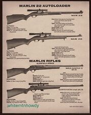 1980 MARLIN Model 990, 995 Autoloader and GLENFIELD 15, 20 Rifle AD