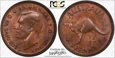 Australia 1944 Perth Penny PCGS MS63RB lot 0419