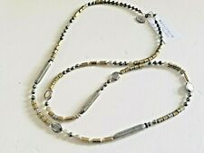 NWT SILPADA*SHOW ME YOUR METAL*STERLING/PYRITE/LABRADORITE/BRASS NECKLACE N3104