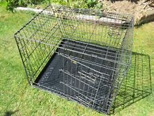 Steel dog cage for transporting large/multiple dogs