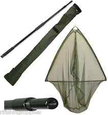 50 INCH GREEN LANDING NET METAL BLOCK + NGT CARP FISHING STINK BAG + 2M HANDLE