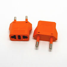 Orange US/AU to EU AC Power Plug European Travel Wall Charger Converter Adapter
