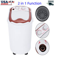 110V Mini Washing Machine Full-Automatic Laundry Washer Compact Spin Dryer 6KG