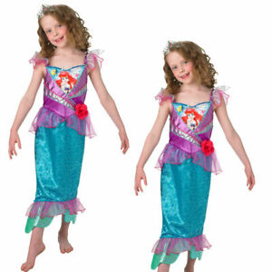 Ariel Girls Fancy Dress Disney Mermaid Fairytale Kids Childrens Costume
