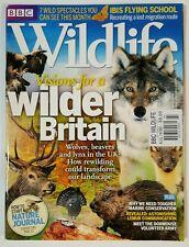 BBC Wildlife Wilder Britain Flying School Wolves Lynx Aug 2014 FREE SHIPPING JB