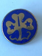VIntage 1950s Blue Enamel Girl Guides Badge Pin Thomas Fattorini Ltd