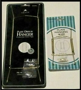 """Brass Plate Hangers Set of Two, (1) #23-1311 5""""- 8"""" and (1) #48-0020 14"""" - 20"""""""