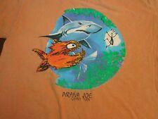 Pirana Joe Grand Turk Orange T Shirt Size Medium Tee   Z8