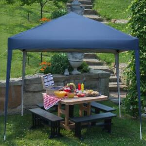 New 3x3m Waterproof Outdoor Pop Up Gazebo Marquee Canopy Party Wedding Tent Blue