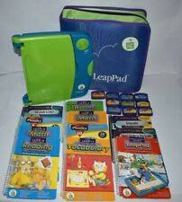 Leap Frog Pink LeapPad Learning System Huge LOT Grades Pre K 1 2, 12 Books Case