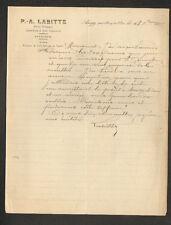 """ANGY prés MOUY (60) DROIT COMMERCIAL / AFFAIRES & VINS """"P.-A. LABITTE"""" en 1917"""