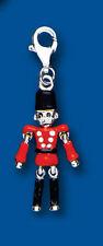 Argento Sterling Smalto Toy soldato Ciondolo Con Gancetto A Moschettone BU7018