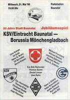 21.05.1986 KSV/Eintracht Baunatal - Borussia Mönchengladbach
