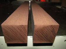 TWO EXOTIC KILN DRIED DARK WENGE TURNING BLANK LATHE WOOD PEPPERMILL 3 X 3 X 12""