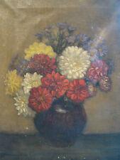 Signé Horace Livens daté 1913 bouquet fleuri dans un vase  , 56 x 45 cm
