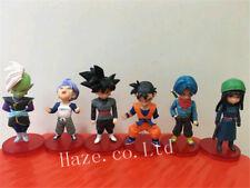 6pcs/Set Dragon Ball Z Gohan Trunks Goku Zamasu PVC Figura Figurilla Modelo