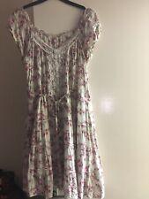 H&M Floral Gypsy Dress soft cotton size 10-12