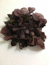 Vintage Miss Mary New York Burgundy Leaves Hat