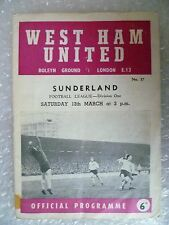 1964-65 WEST HAM UNITED v SUNDERLAND, 13th March (League Division One)