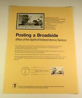 First Day Cover USPS Official Souveneir Page - 1477 Posting Broadside