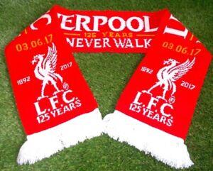 Liverpool LFC 125 Year Official YNWA Scarf 2017