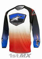 Alpinestars Racer SUPERMATIC Motocross Race Jersey Red Blue White Youth XL