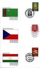 17933/ UNO Flaggen der Nationen - 3 Umschläge - Tadschikistan, CSR, Turkmenistan