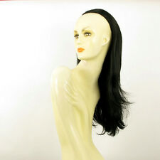 DT Half wig HairPiece long straight extensions black 24.4  REF :13/1b