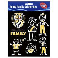 Licensed AFL Richmond Tigers FAMILY Car Sticker Sheet Birthday School Gift