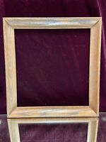 "VTG Aesthetic Art's & Craft's Mid Century Oak Wood Picture Frame Fit 13 1/4""x14"""