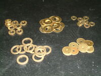 Brass Washers 2mm to 9.2mm I/D- Choose from 16 sizes, Various quantities