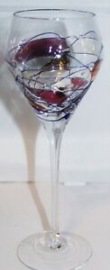 """MOSAIC STAINED WINE GLASSES about 9"""" Height x 3"""" Base. Holds 8 oz. Full"""