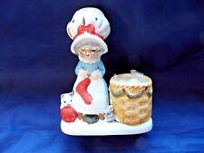1978 Christmas Luvkins Porcelain Candle Holder Mrs Claus Figurine Jasco #14
