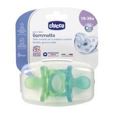 CHICCO 2 Gommotti 16-36m Bimbo Gommotto Physio Soft Silicone Succhiotto Ciuccio