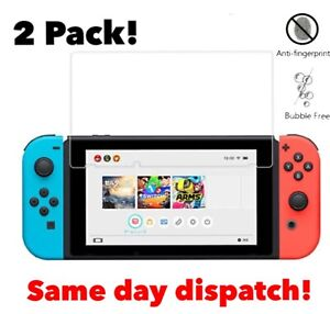 Nintendo Switch Screen Protector 2 Pack Tempered Glass Protection Ultra Clear 9H