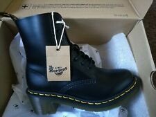Genuine Dr Martens Clemency Smooth Leather Black Heeled Boots Size UK 4 EU 37