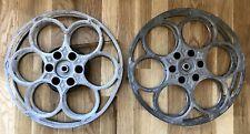 "Very Nice Lot of 2 GOLDBERG BROS 15"" 35mm Aluminum Film Cinema Reel - 6 Hole NR"