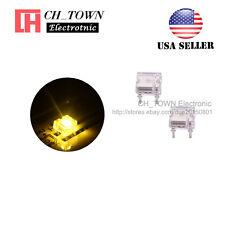 100pcs Flat Top Piranha Super Flux Warm White Light LED Diodes Ultra Bright USA