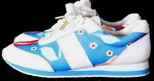 Kate Spade Sidney Floral Printed White Leather Fashion Sneaker Women's US 5.5M