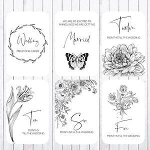 Wedding  Milestone Cards, 4x6 Photo Prop, 39 Cards, Floral