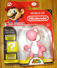 "World of Nintendo PINK YOSHI 4"" SUPER MARIO WOLLY FIGURE SERIES 1-3 JAKKS"